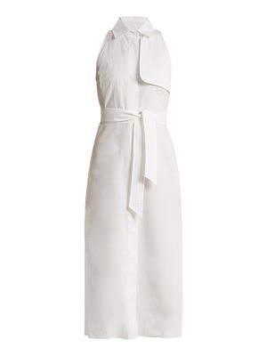 Max Mara Waist-tie cotton-poplin dress