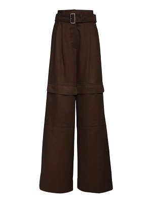 MAX MARA WEEKEND Belted cotton twill cargo pants