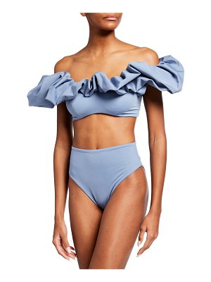 Maygel Coronel Lucila High-Rise Two-Piece Swimsuit