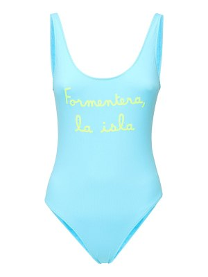 MC2 SAINT BARTH Lora embroidered one piece swimsuit