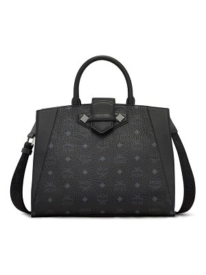 MCM medium essential visetos coated canvas tote