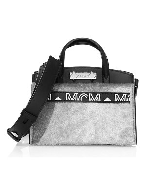 MCM mini milano lux calf hair leather tote