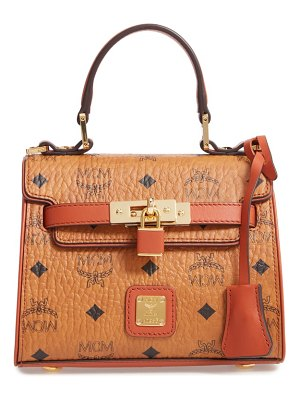 MCM mini vintage visetos coated canvas satchel