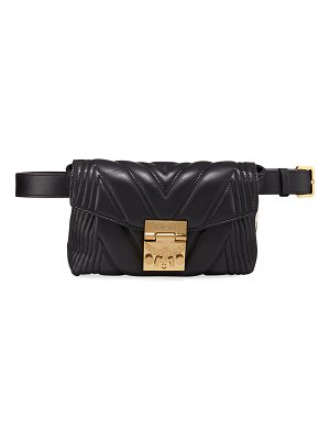 MCM Patricia Small Quilted Leather Crossbody Belt Bag