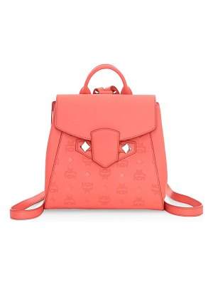 MCM small essential monogram leather backpack