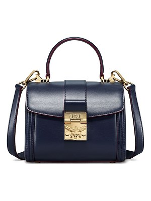 MCM small tracy leather & suede satchel