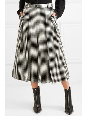 McQ by Alexander McQueen atami pleated gingham wool-twill wide-leg pants
