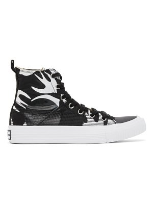 McQ by Alexander McQueen black and white plimsoll high top sneakers
