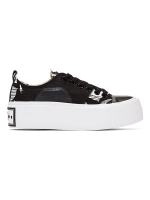 McQ by Alexander McQueen black and white plimsoll platform sneakers