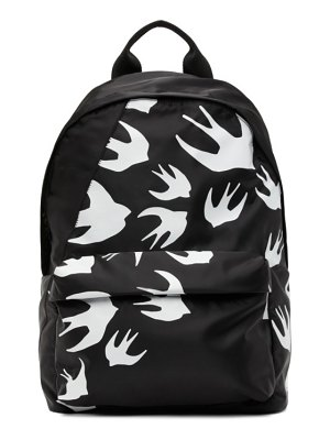 McQ by Alexander McQueen black classic swallows backpack