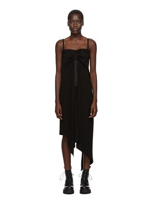 McQ by Alexander McQueen black drawstring strap dress