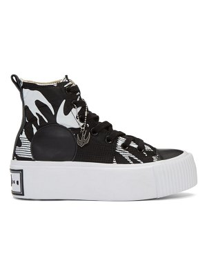 McQ by Alexander McQueen black plimsoll platform high sneakers