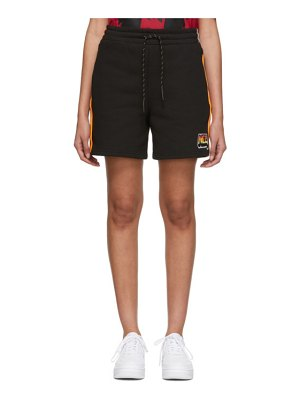 McQ by Alexander McQueen black racer shorts