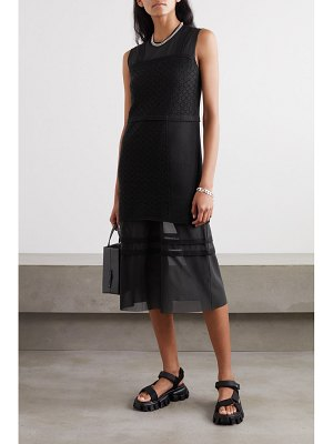 McQ by Alexander McQueen bralette crocheted cotton and stretch-tulle midi dress