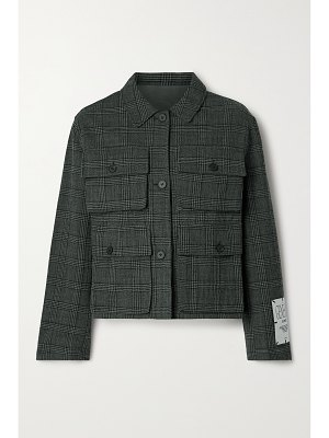 McQ by Alexander McQueen checked cotton and wool-blend jacket