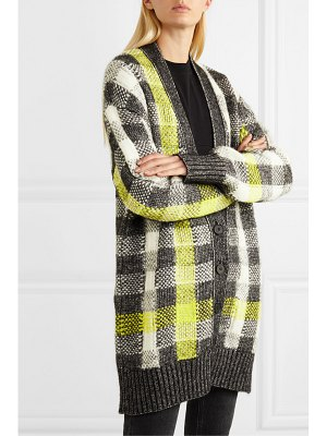 McQ by Alexander McQueen checked knitted cardigan