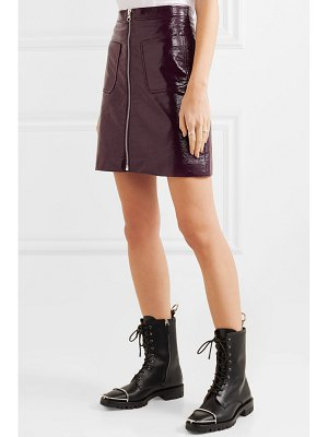 McQ by Alexander McQueen coated-cotton mini skirt