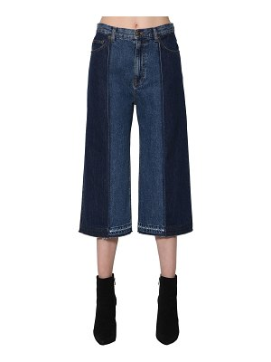 McQ by Alexander McQueen Cropped patchwork denim jeans