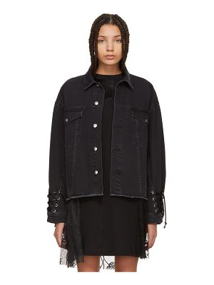 McQ by Alexander McQueen Denim Oversized Laced Jacket