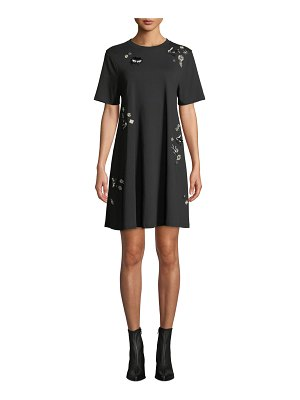 McQ by Alexander McQueen Embellished Crewneck Babydoll Dress