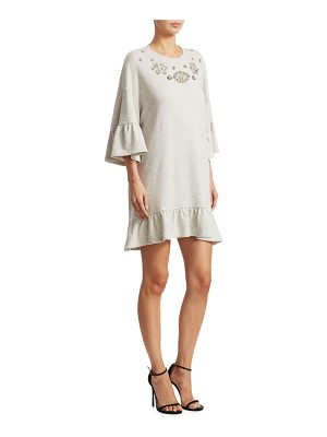 McQ by Alexander McQueen embellished ruffle bell-sleeve dress