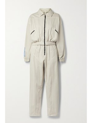 McQ by Alexander McQueen fantasma convertible cotton and lyocell-blend jumpsuit