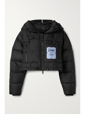 McQ by Alexander McQueen festival cropped hooded appliquéd quilted shell jacket