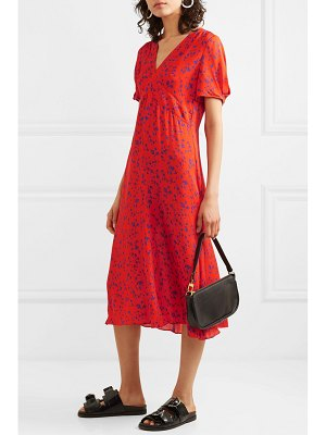 McQ by Alexander McQueen floral-print silk-georgette midi dress