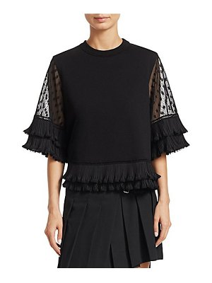 McQ by Alexander McQueen lace sleeve t-shirt