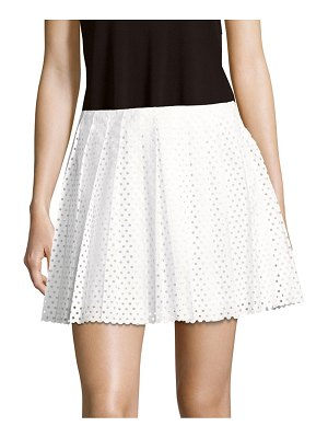McQ by Alexander McQueen Perforated Cotton Skirt