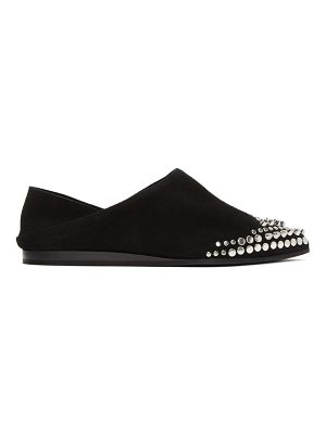 McQ by Alexander McQueen Suede Studded Liberty Fold Slippers