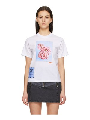 McQ by Alexander McQueen white fascinated flowers t-shirt