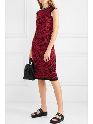 McQ by Alexander McQueen zebra-print cotton midi dress