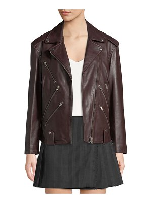McQ by Alexander McQueen Zippers Leather Biker Jacket