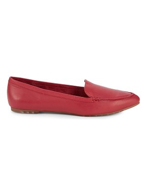 ...me Too Shoes Leather Loafer Flats