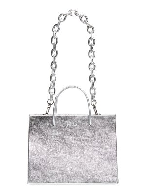 Medea hanna chain strap metallic leather tote