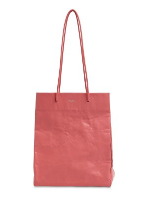 Medea Tall busted leather top handle bag