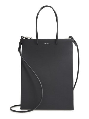 Medea tall leather tote