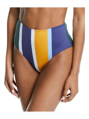 Mei L'ange Ariana High-Waist Colorblock Bikini Swim Bottoms