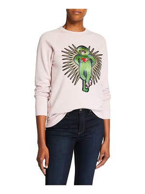 Melissa Masse Lucky Monkey Raglan-Sleeve Eco Fleece Sweatshirt