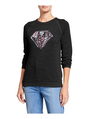 Melissa Masse Sequin Diamond Eco Fleece Crewneck Sweatshirt