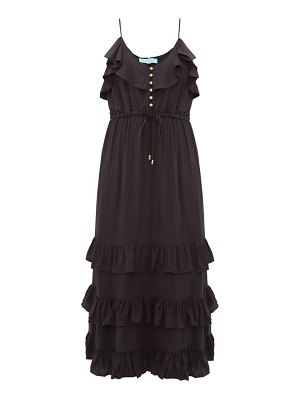 Melissa Odabash bethan tiered ruffled midi dress