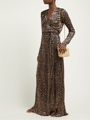 Melissa Odabash look 3 metallic leopard print wrap maxi dress