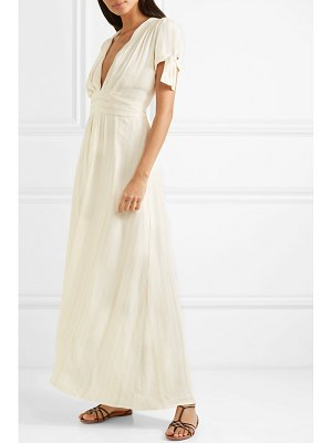 Melissa Odabash mcpherson striped crepe and lurex maxi dress