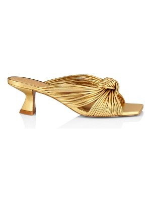 MERCEDES CASTILLO bianca square-toe knotted metallic leather mules