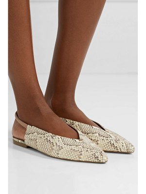 MERCEDES CASTILLO evetta snake-effect leather slingback flats