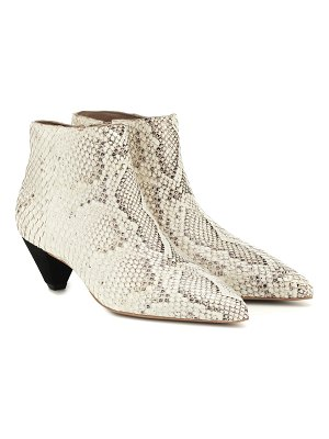 MERCEDES CASTILLO julienne leather ankle boots
