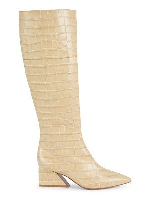 MERCEDES CASTILLO kyle point-toe croc-embossed leather boots