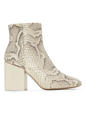 MERCEDES CASTILLO block-heel snakeskin-embossed leather ankle boots