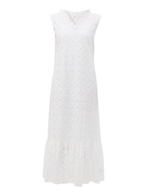 MERLETTE ardennes broderie anglaise cotton maxi dress